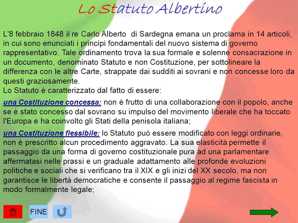 Lo Statuto Albertino