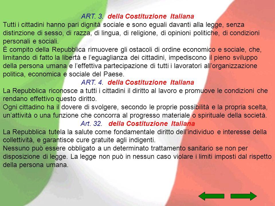ART. 3. della Costituzione Italiana