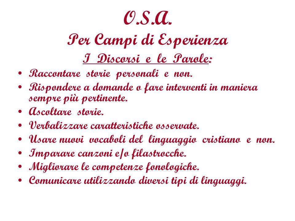 O.S.A. Per Campi di Esperienza
