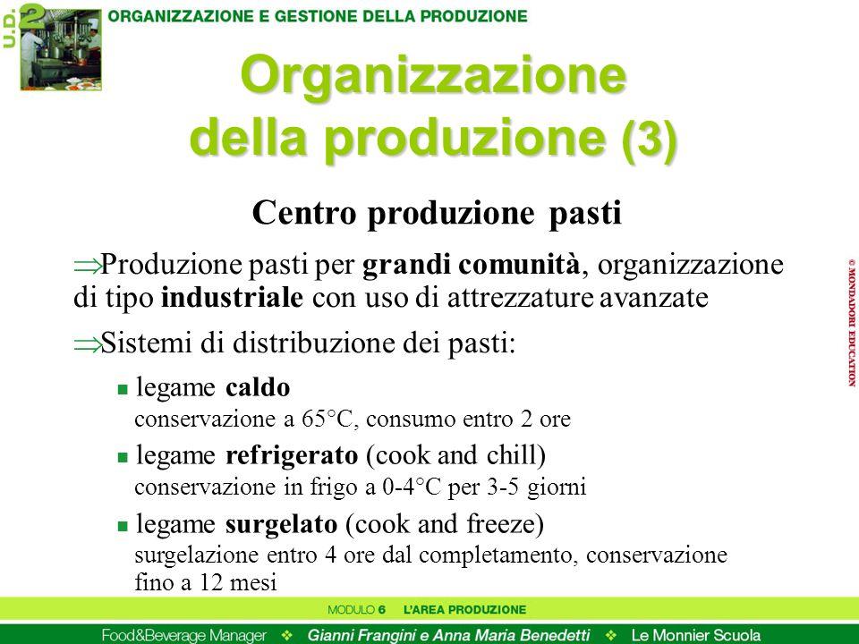 Organizzazione della produzione (3) Centro produzione pasti