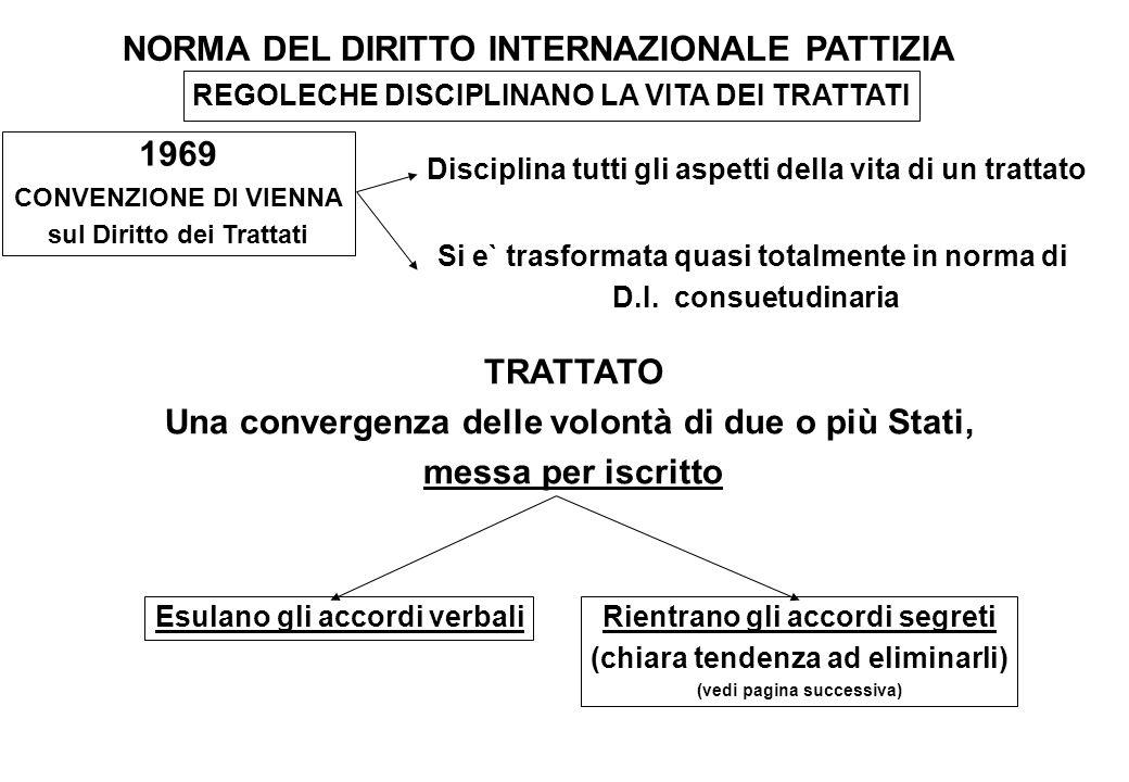 NORMA DEL DIRITTO INTERNAZIONALE PATTIZIA