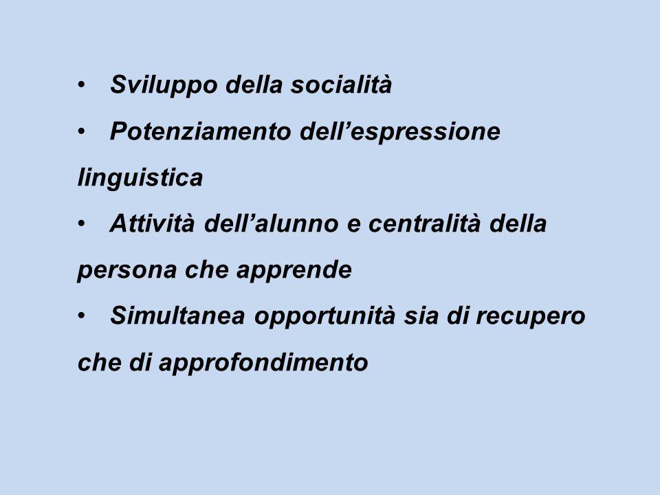 Sviluppo della socialità