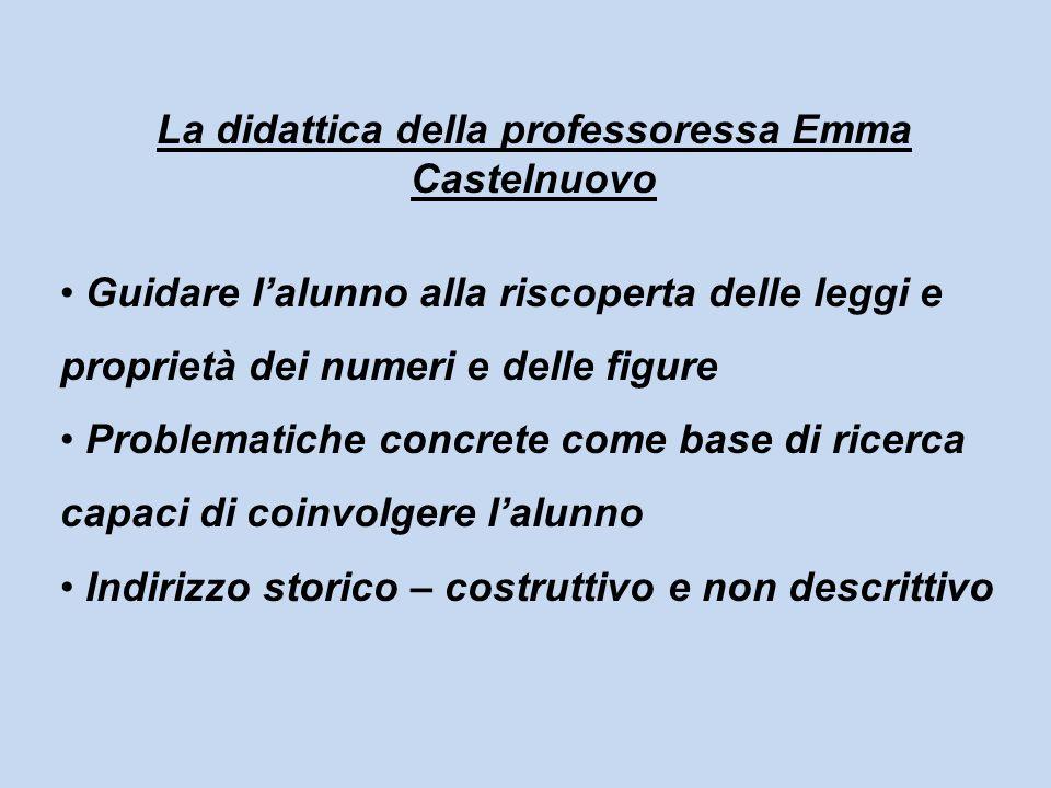 La didattica della professoressa Emma Castelnuovo