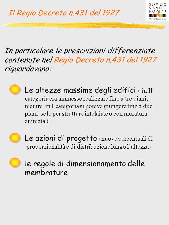 Il Regio Decreto n.431 del 1927 In particolare le prescrizioni differenziate. contenute nel Regio Decreto n.431 del 1927.