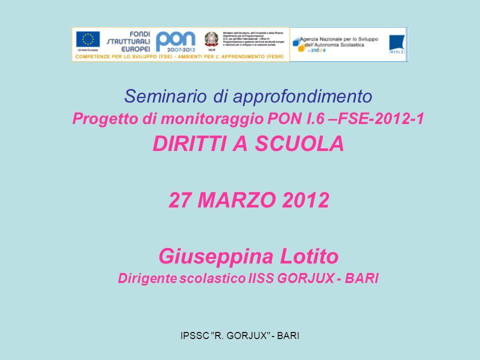 DIRITTI A SCUOLA 27 MARZO 2012 Giuseppina Lotito