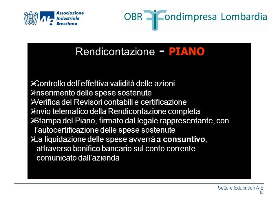 Rendicontazione - PIANO