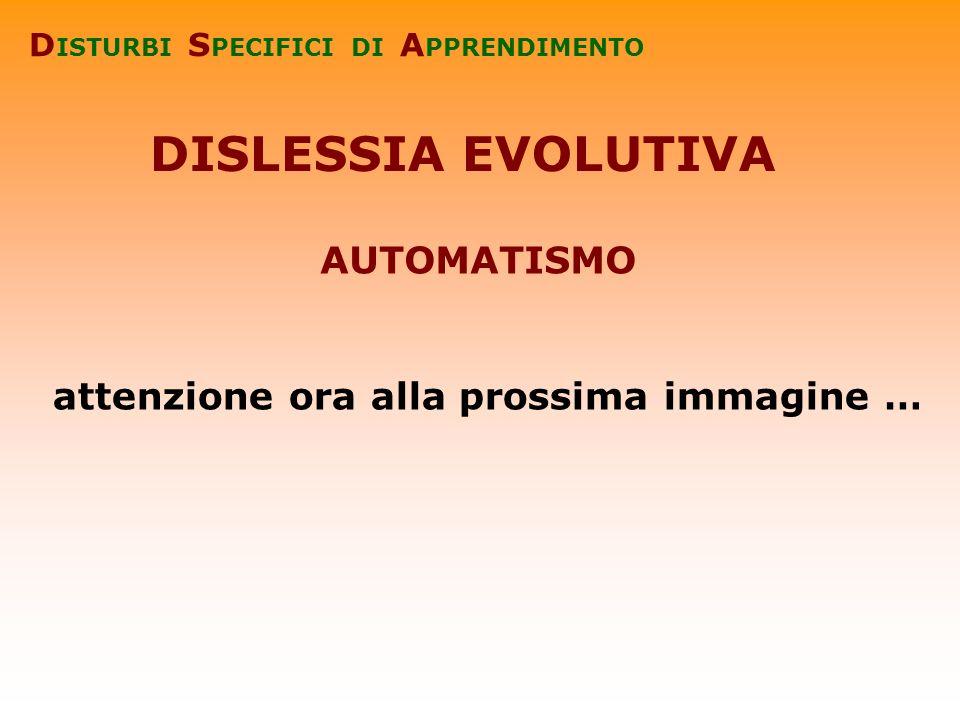 DISLESSIA EVOLUTIVA AUTOMATISMO