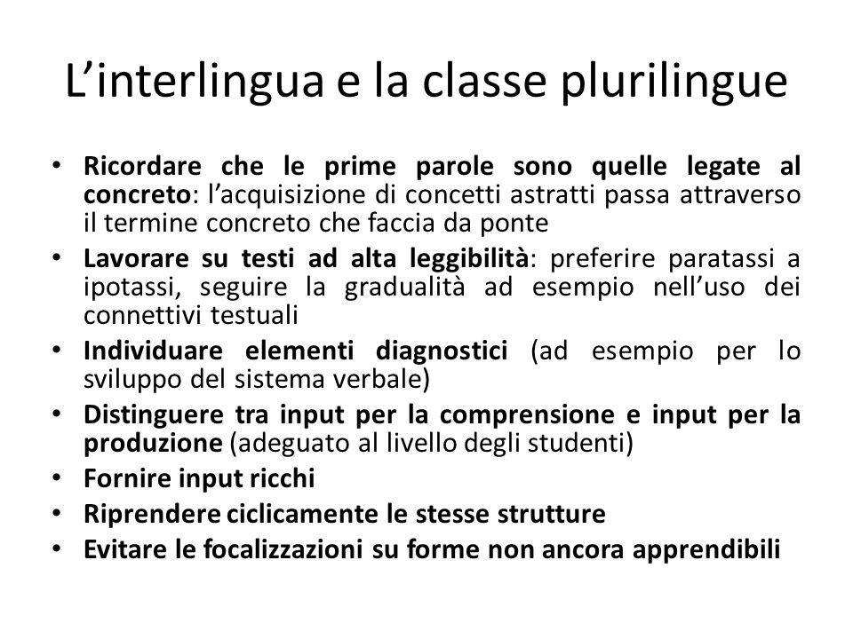L'interlingua e la classe plurilingue
