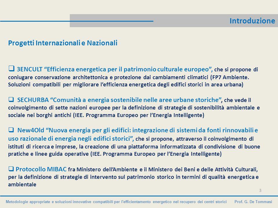 Introduzione Progetti Internazionali e Nazionali