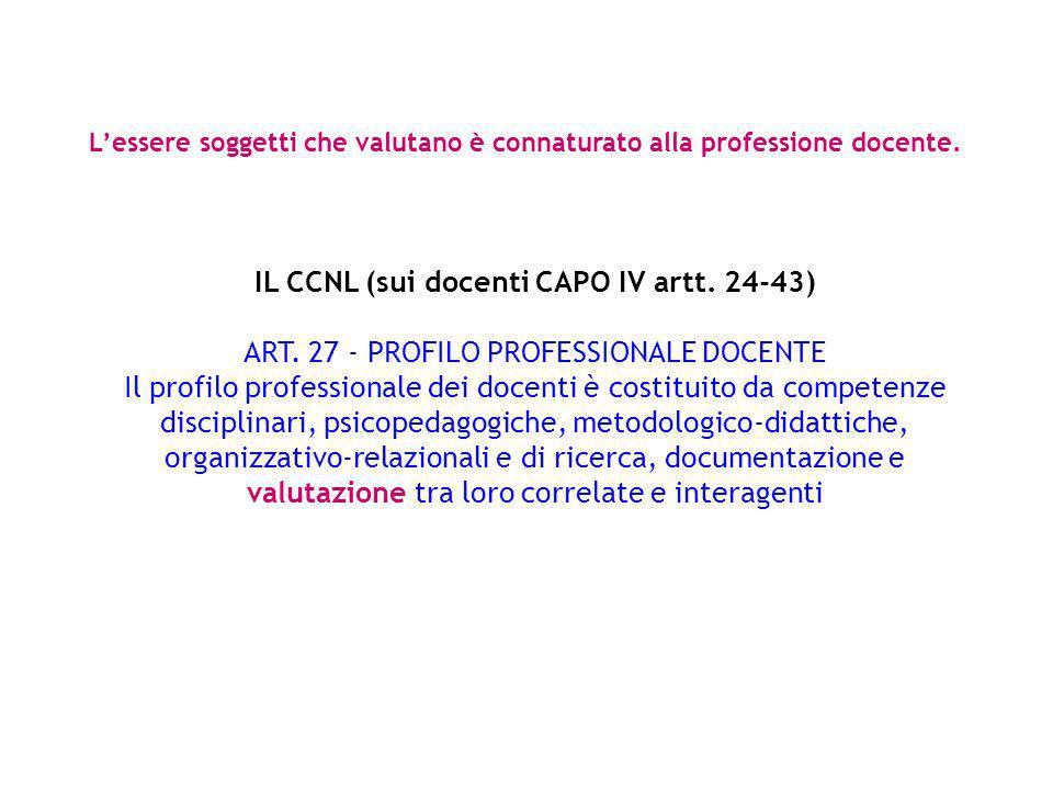 IL CCNL (sui docenti CAPO IV artt. 24-43)