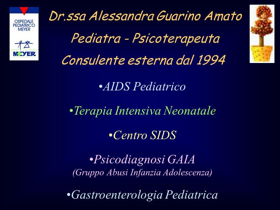 Dr.ssa Alessandra Guarino Amato Pediatra - Psicoterapeuta