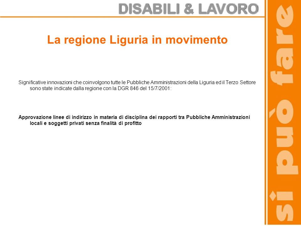 La regione Liguria in movimento