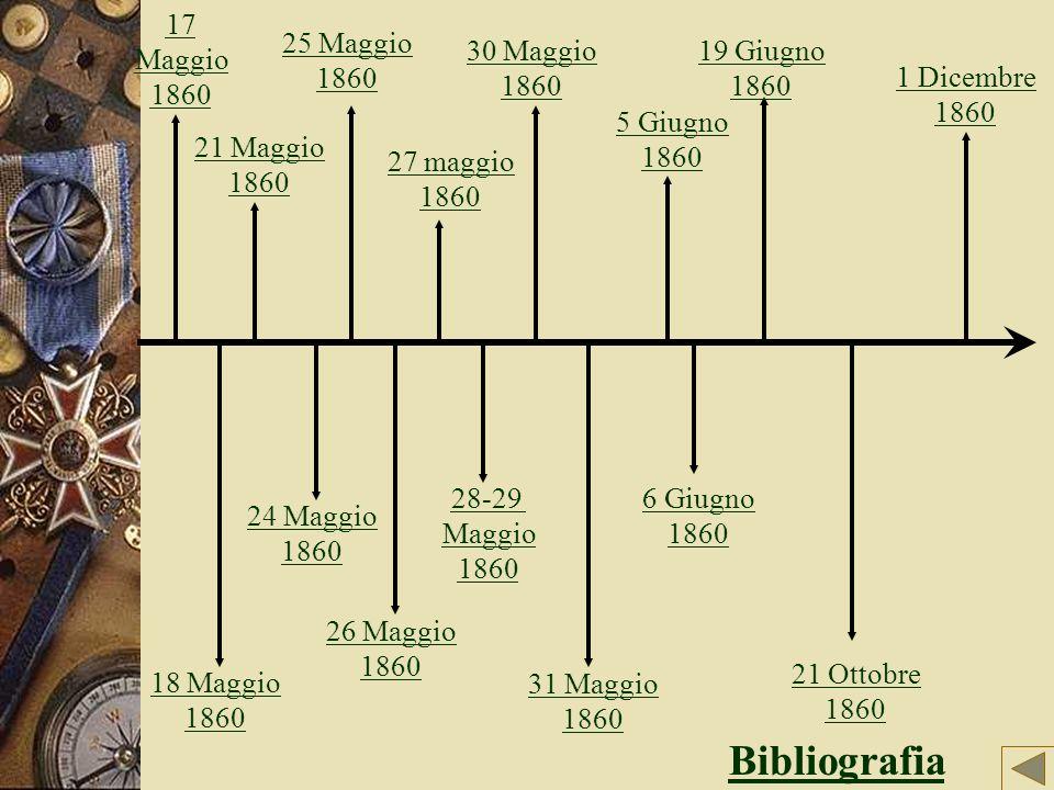 Bibliografia 17 Maggio 1860 25 Maggio 1860 30 Maggio 1860 19 Giugno