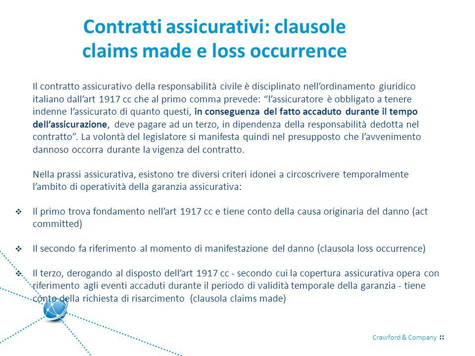 Contratti assicurativi: clausole claims made e loss occurrence