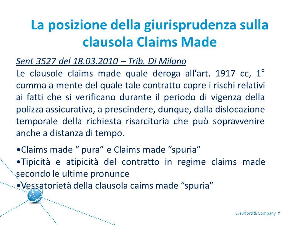 La posizione della giurisprudenza sulla clausola Claims Made