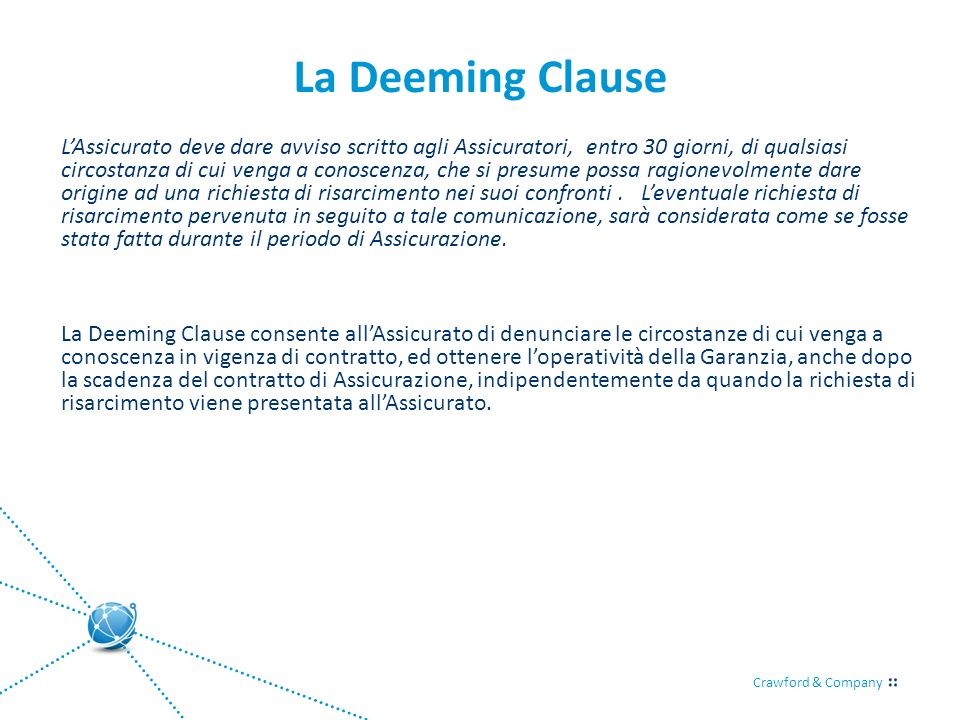 La Deeming Clause