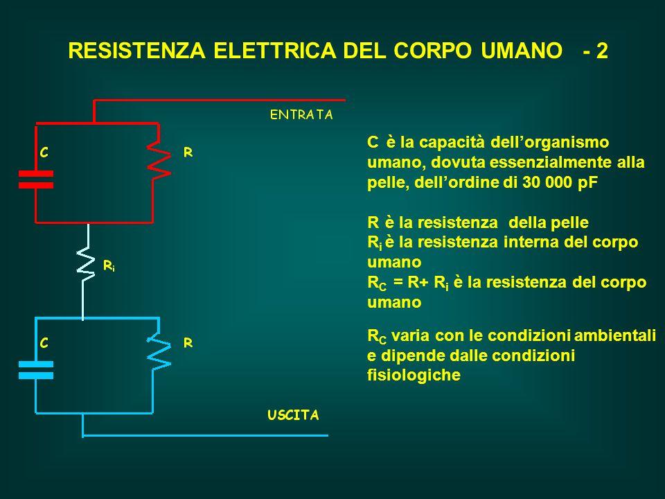 RESISTENZA ELETTRICA DEL CORPO UMANO - 2