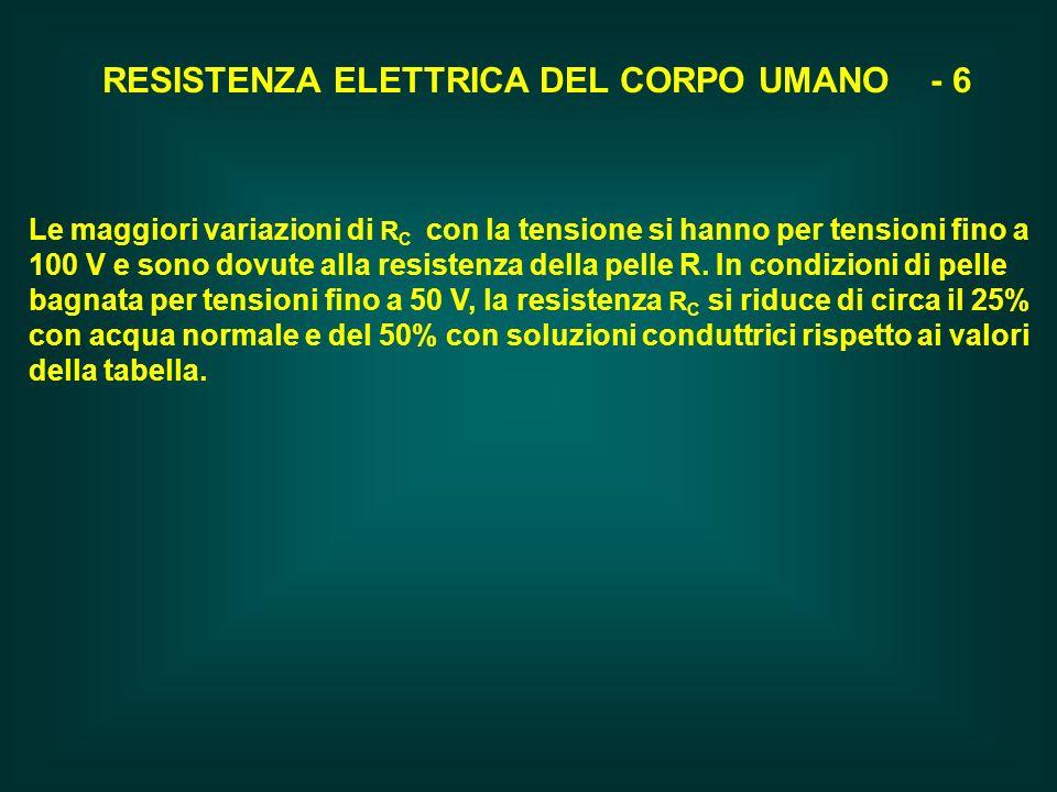 RESISTENZA ELETTRICA DEL CORPO UMANO - 6