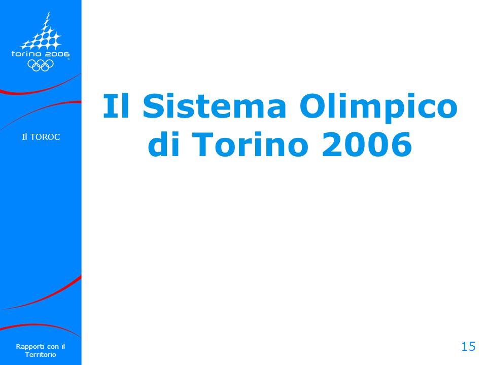 Il Sistema Olimpico di Torino 2006