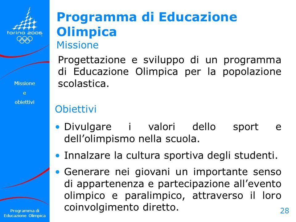 Programma di Educazione Olimpica Missione