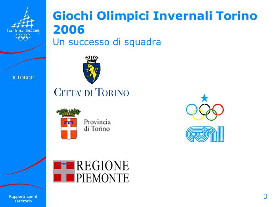 Giochi Olimpici Invernali Torino 2006 Un successo di squadra
