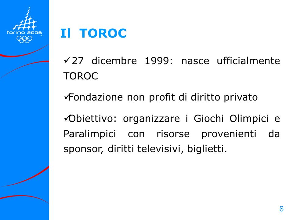 Il TOROC 27 dicembre 1999: nasce ufficialmente TOROC
