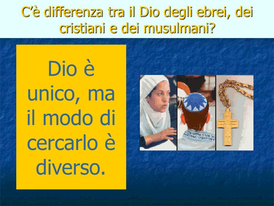 C'è differenza tra il Dio degli ebrei, dei cristiani e dei musulmani