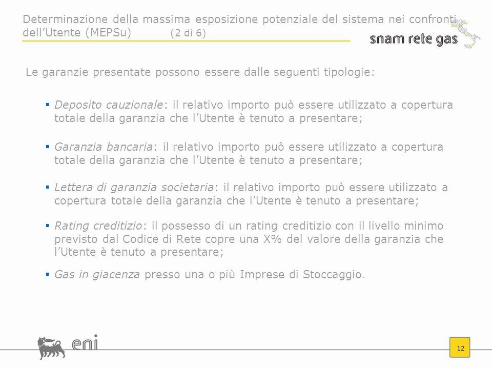 Determinazione della massima esposizione potenziale del sistema nei confronti dell'Utente (MEPSu) (2 di 6)
