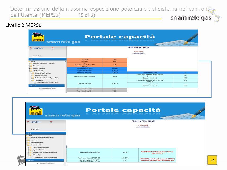 Determinazione della massima esposizione potenziale del sistema nei confronti dell'Utente (MEPSu) (5 di 6)