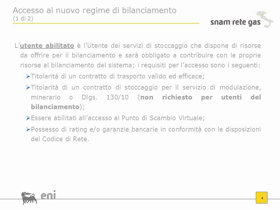 Accesso al nuovo regime di bilanciamento (1 di 2)