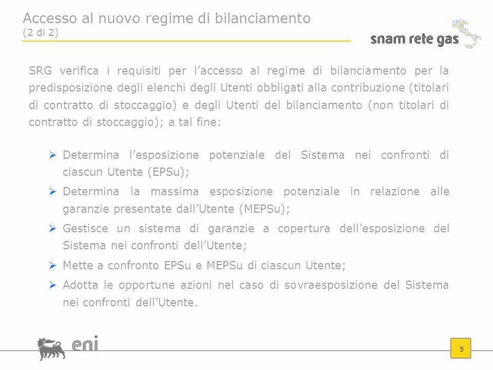Accesso al nuovo regime di bilanciamento (2 di 2)