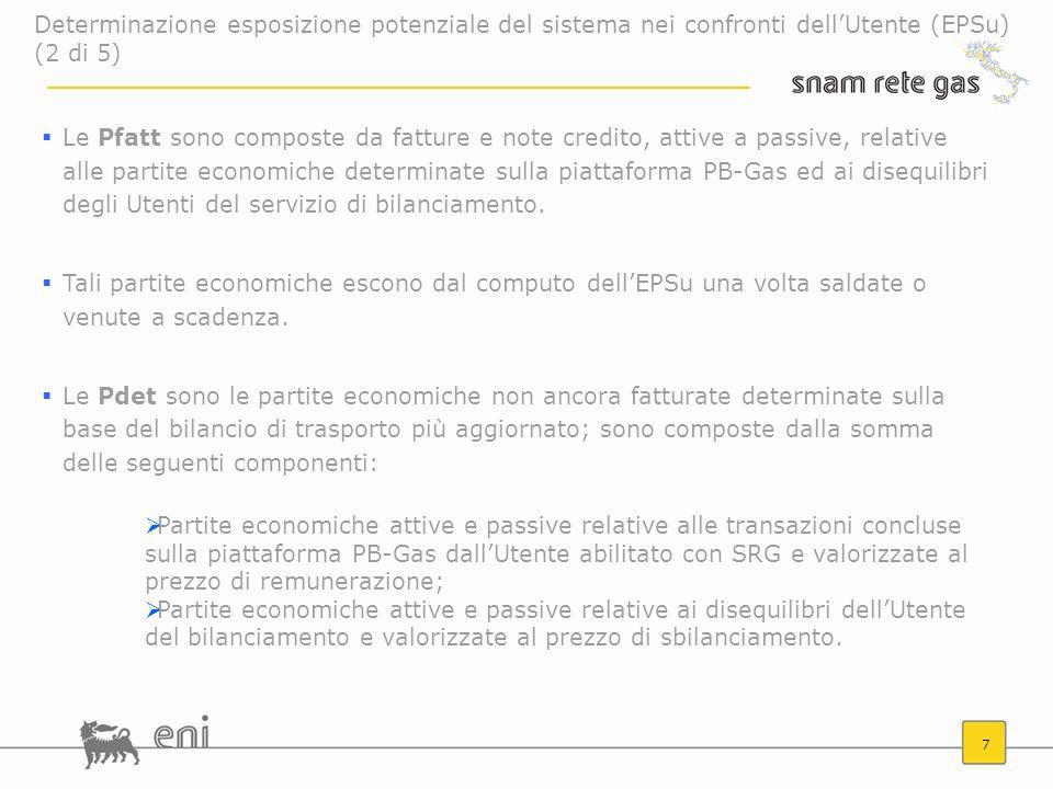 Determinazione esposizione potenziale del sistema nei confronti dell'Utente (EPSu) (2 di 5)
