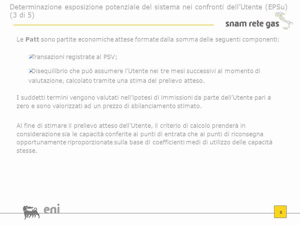 Determinazione esposizione potenziale del sistema nei confronti dell'Utente (EPSu) (3 di 5)
