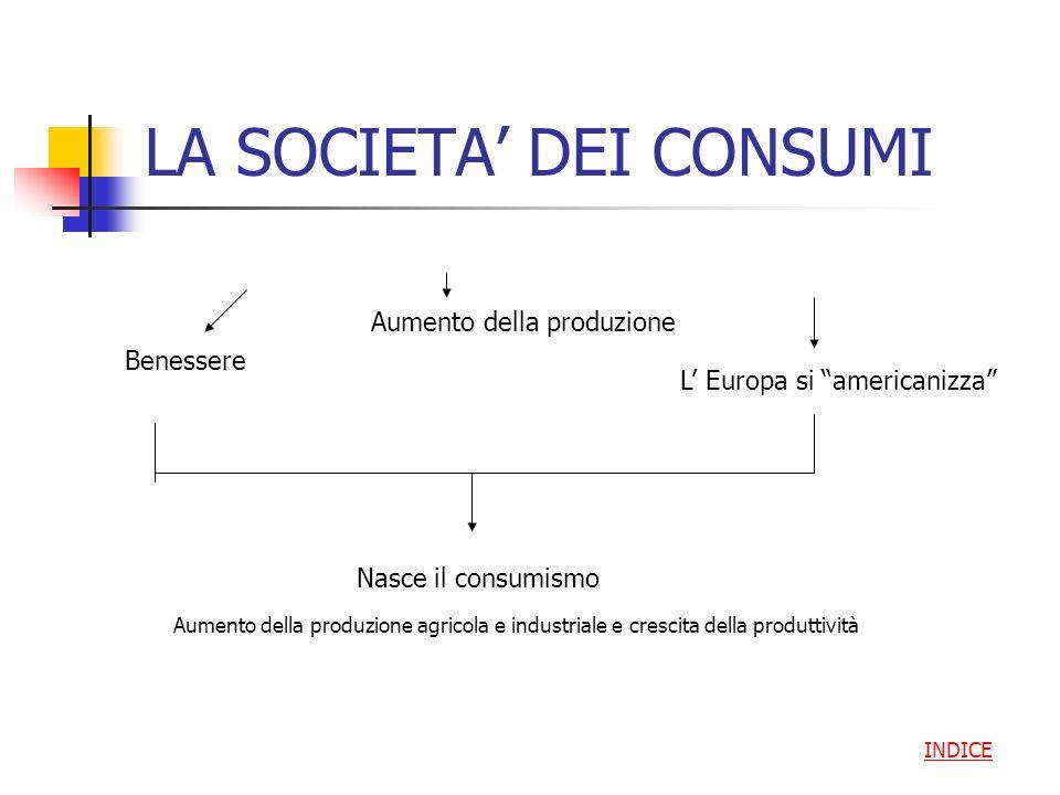 LA SOCIETA' DEI CONSUMI
