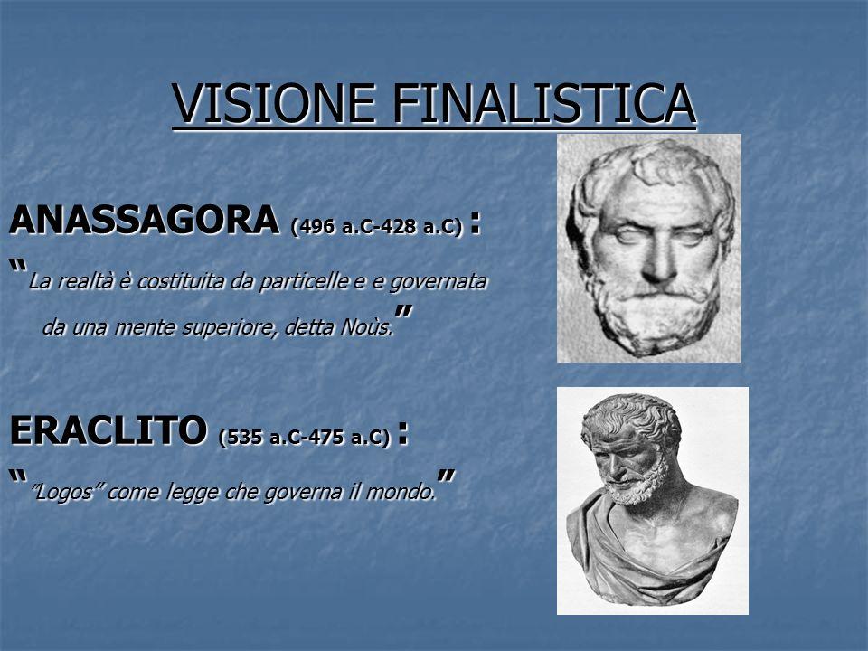VISIONE FINALISTICA ANASSAGORA (496 a.C-428 a.C) :