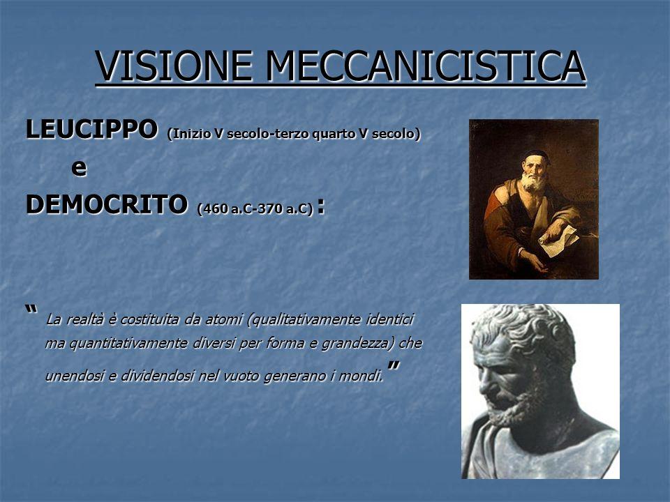 VISIONE MECCANICISTICA