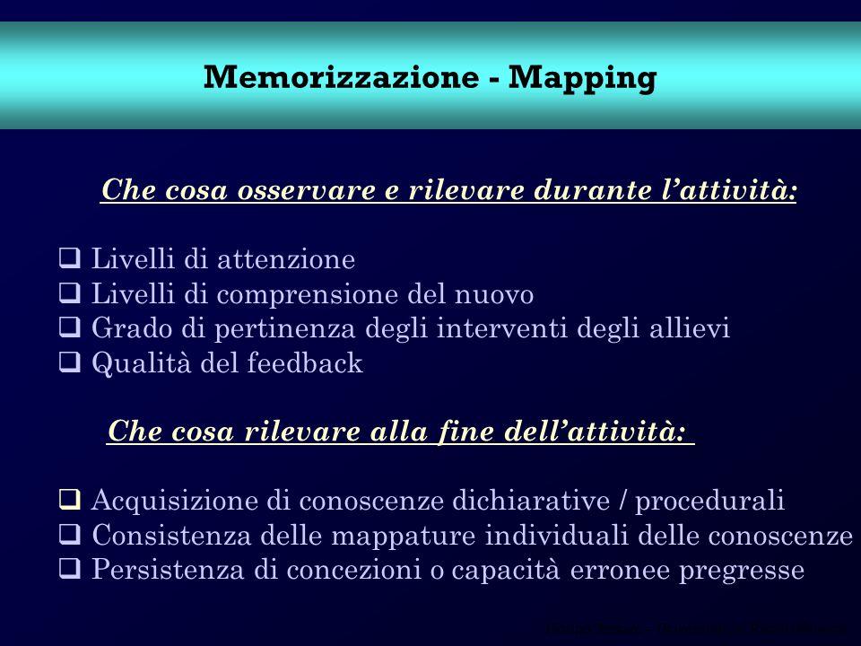 Memorizzazione - Mapping
