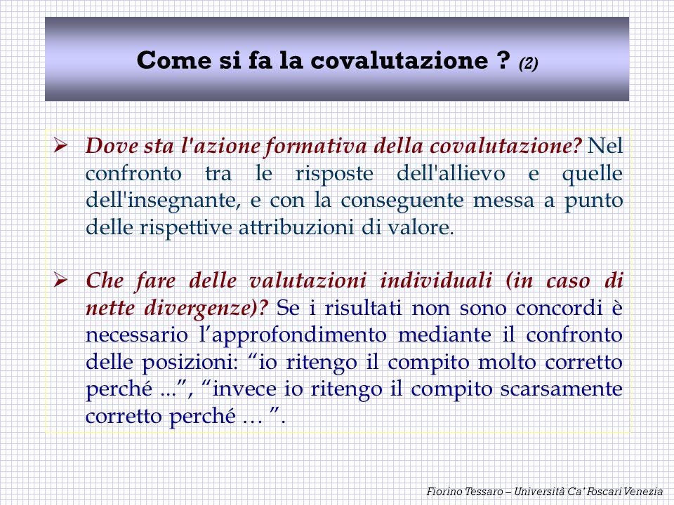 Come si fa la covalutazione (2)