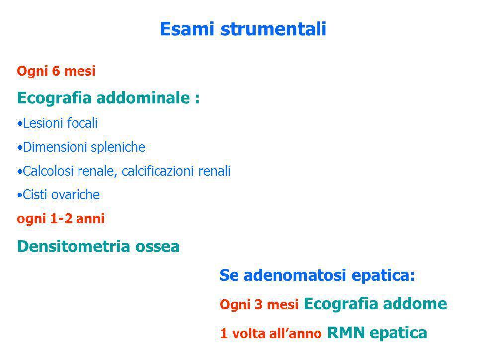 Esami strumentali Ecografia addominale : Densitometria ossea