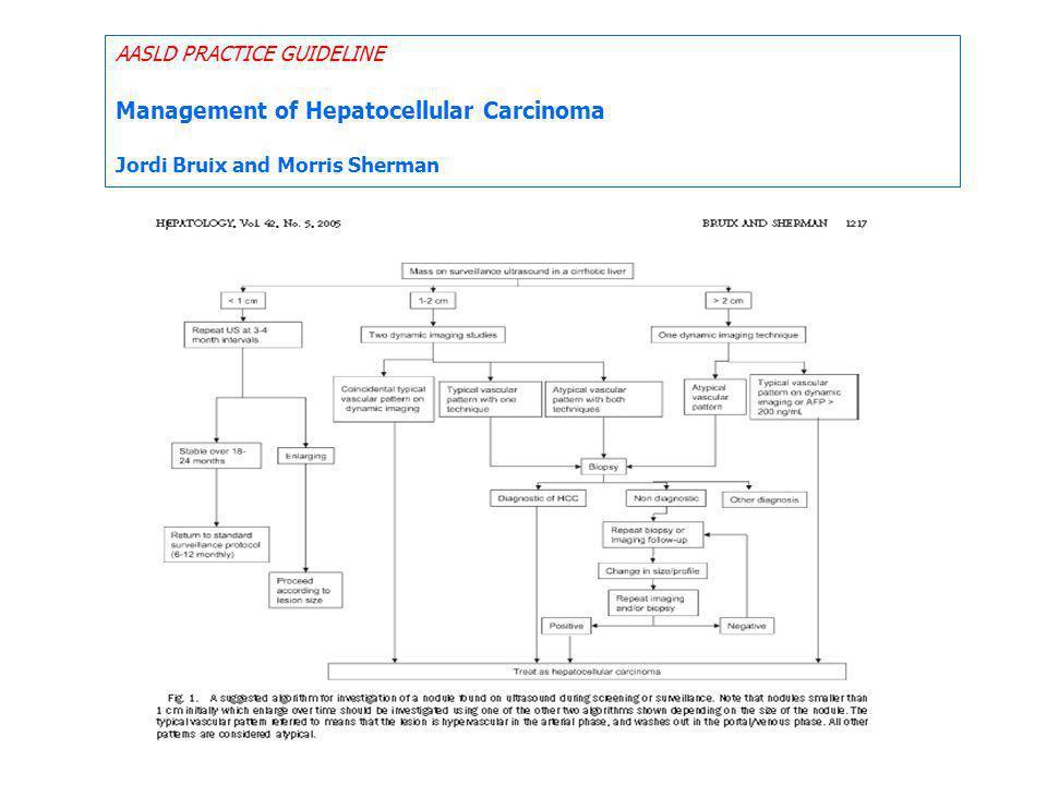 Management of Hepatocellular Carcinoma