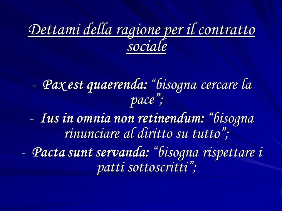 Dettami della ragione per il contratto sociale