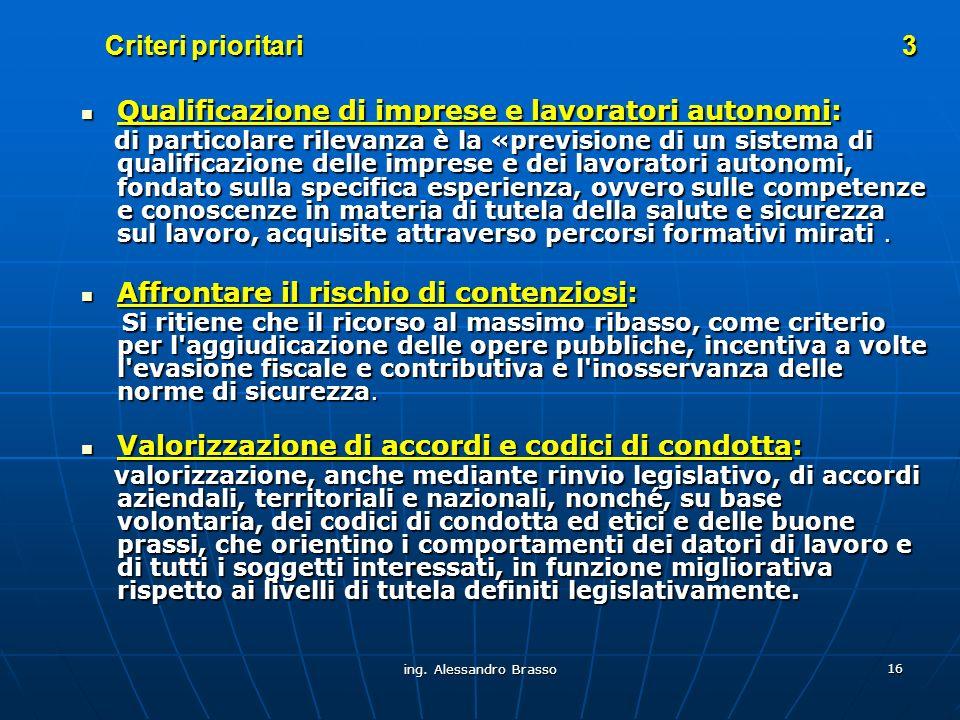 Qualificazione di imprese e lavoratori autonomi: