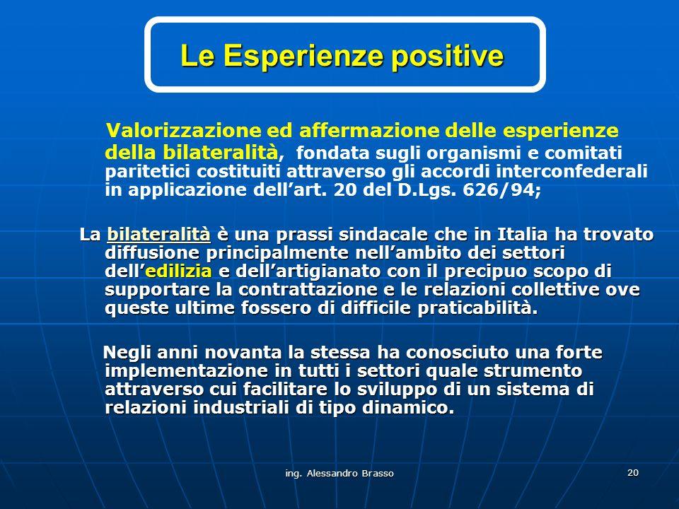 Le Esperienze positive