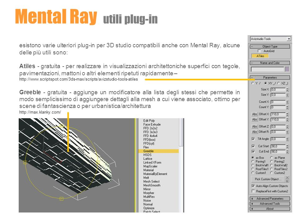 Mental Ray utili plug-in