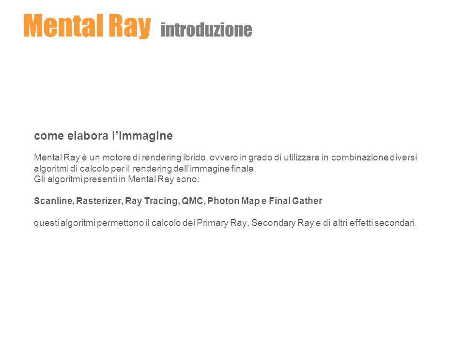 Mental Ray introduzione