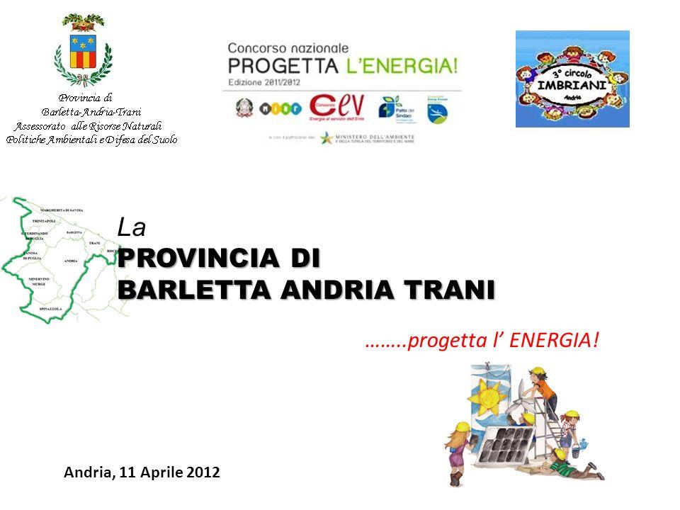 La PROVINCIA DI BARLETTA ANDRIA TRANI ……..progetta l' ENERGIA!