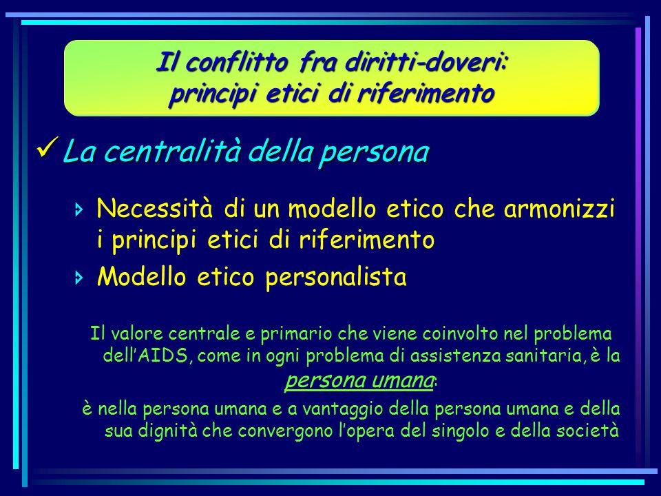 La centralità della persona