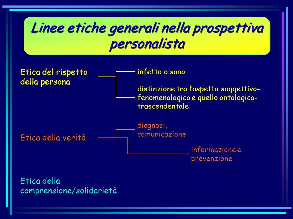 Linee etiche generali nella prospettiva personalista