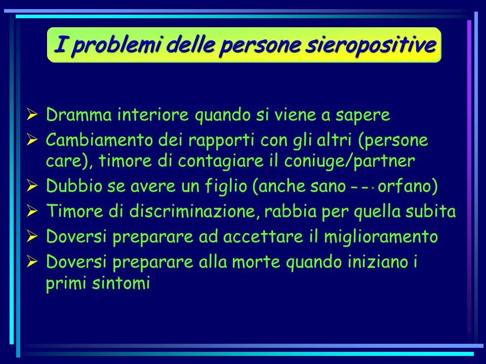 I problemi delle persone sieropositive