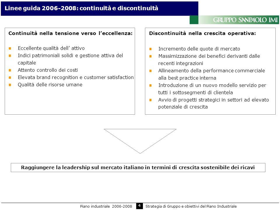 Linee guida 2006-2008: continuità e discontinuità
